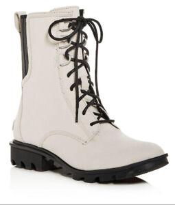 Sorel Womens Phoenix Fawn Color Lace Up Boots Size 9.5