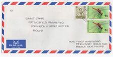 1990's THAILAND Air Mail Cover BANGKOK to STORRINGTON GB Pair