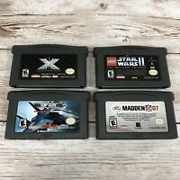 Lot Of 4 Gameboy Advance Games - X Men, Star Wars 2, Top Gun, Madden 07