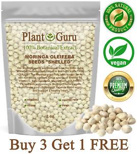 1000 Moringa Oleifera Seeds Kernel 8 oz SHELLED Fresh Organic Semilla De Moringa