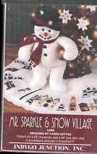 MR SPARKLE SNOWMAN DOLL-VILLAGE  APPLIQUE TREE SKIRT-SNOWFLAKES INDYGO JUNCTION