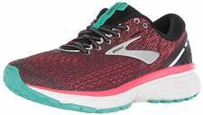 Brooks Womens Ghost 11 Running Shoes, Black/Pink/Aqua