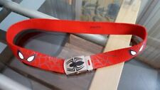 Spiderman Canvas Belt Marvel boys maximum 26 waist pin stuck