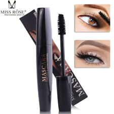 4D Silk Fiber Eyelash Mascara Extension Makeup Black Waterproof Kit Eye Lashes F