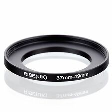 RISE(UK) 37mm-49mm 37-49 mm 37 to 49 Step Up Ring Filter Adapter black