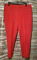 Size 14 SHORT | WHBM White House Black Market The Slim Pants Red Ankle *NEW*