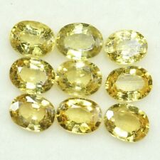 Natural Yellow Sapphire Oval Cut 5x4 MM 3.93 Cts 9 Pc Lot Loose Gemstone