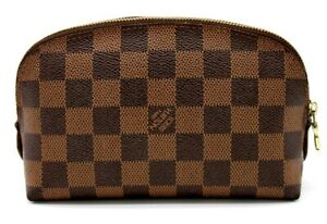 【Rank AB】Auth Louis Vuitton Damier Pochette Cosmetic Pouch Clutch N47516