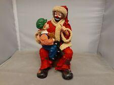 Emmett Kelly Jr Collection by Flambro Santa Claus Clown Figurine Clothtique