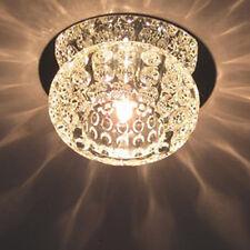 Modern Crystal LED Chandelier Flush Mount Pendant Lamp Lighting Dining Living US