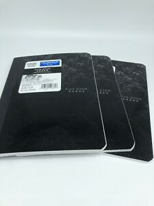 NEW Lot of 3 Mead College Ruled Composition Book 100 Sheets Ea Black Gray 5 Star