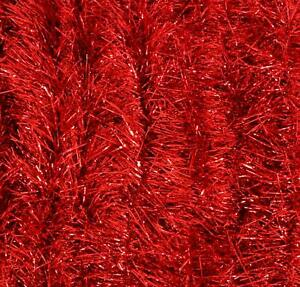 Tinsel Garland Metallic (Red, 2 Pack, 15 ft ea) Holiday Streamers Christmas