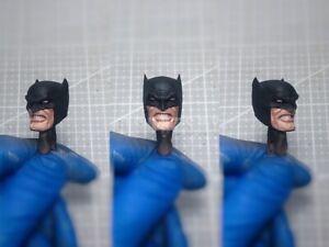 "Painted Service 1/12 Scale Batman Head Sculpt for 6"" Figure M One:12 Dark Knight"