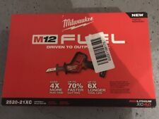 New Milwaukee 2520-21XC M12 12V Lith-Ion Fuel HACKZALL Reciprocating Saw Kit
