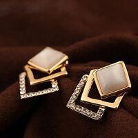 Gold Damen Ohrringe Kristall Strass Ohr Stud Ohrstecker Ohrring Schmuck 1 Paar~~