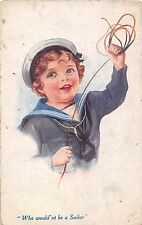 POSTCARD  COMIC   NAVY  Related   CHILDREN    Who  would'nt  be  a sailor