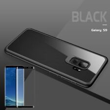 para Samsung Galaxy S9 g960f ORIGINAL ROCK Bolsa de silicona FUNDA NEGRA + 4d