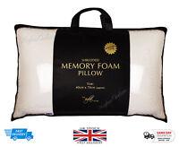 2 x Visco Elastic Shredded Memory Foam Pillow Orthopaedic Anti Bacerial Support