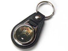 BRIARD Dog Puppy Quality Leather and Chrome Keyring