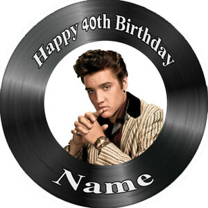 ELVIS REAL EDIBLE ICING  CAKE TOPPER PARTY IMAGE FROSTING SHEET