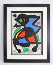 BOLD Joan MIRO ORIGINAL 1970 COLOR Lithograph Sculptures Framed AUTHENTIC COA