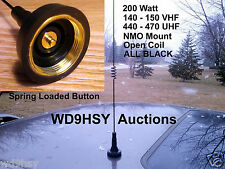 Motorola Style NMO BLACK Dual Band 2 70 meter 144 440 VHF UHF Pretuned Antenna