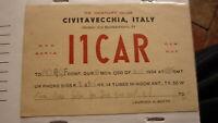 OLD VINTAGE QSL HAM RADIO CARD POSTCARD, CIVITAVECCHIA ITALY 1954