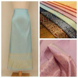 Asian Jacquard Brocade Fabric Traditional Ethnic Costume Skirt Dress Cloth Trims