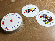 Deck of Playing Cards,Knight Round Cards w/ plastic case No. 007