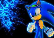 Sonic The Hedgehog A4 260GSM cartel impresión