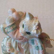 Enesco Calico Kitten Christmas Angel Ornament Figurine No box