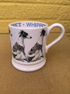 BRAND NEW 2ND QUALITY Emma Bridgewater Whippet Dog 1/2 Pint Mug
