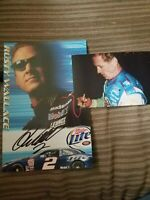 Rusty Wallace Signed Hero Card With Proof Nascar