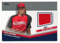 ZACK GREINKE 2020 TOPPS UPDATE ALL-STAR STITCHES GAME-USED JERSEY RELIC 2015