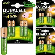 Baterías recargables Duracell AAA para TV y Home Audio