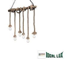 Lampadario Ideal Lux CANAPA SP6 CORDA CODICE 134826