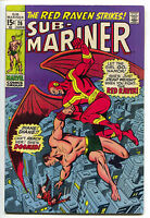 Sub-Mariner 26 Marvel 1970 FN VF Namor Red Raven Roy Thomas