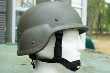 MILITARY PASGT HELMET S-2 MODEL LOOK AT PICTURES W COVER & FREE NEW IMPACT LINER