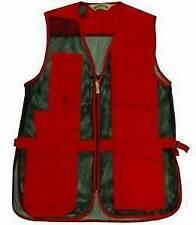 Bob Allen Mens 240M Shooting Vest Red with Black Mesh. Size LH XS