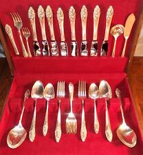 NICE Oneida Community EVENING STAR 1950 MCM SilverPlate Flatware Set Svc for 8+