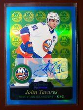 JOHN TAVARES - 2016/17 O-PEE-CHEE PLATINUM BLUE RAINBOW AUTOGRAPH CARD