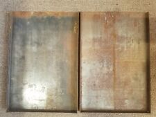 Two 2 Steel Letterpress Linotype Galley Tray Vintage Printing 13 X 9