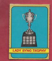 1972-73 OPC # 168 LADY BYNG TROPHY WINNERS CARD (JEAN RATELLE)
