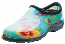 Principle Plastics 5114TP07 Size 7 Womens Teal Pansy Print Rain & Garden Shade
