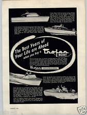 1955 PAPER AD Trojan Boat Lancaster PA Monterey Feadship Auxiliary Sloop