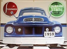 1959 STUDEBAKER TRUCK GARAGE SCENE BANNER SIGN GARAGE ART SHOP MURAL 4 X 3