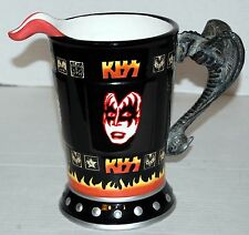 """KISS Dynasty Faces Gene Simmons Tongue Spout 9"""" Pitcher Spencers 2001 Ace"""