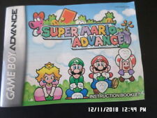 Super Mario Advance (Gameboy Advance) GBA Instruction Manual Only... NO GAME