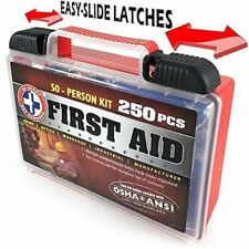 First Aid Kit 250 Piece Medical Trauma Emergency Car Camping Wall Mount Case New