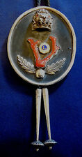 ARTISAN STERLING NATURAL BRANCH CORAL Vintage LIONS LARGE BOLO TIE